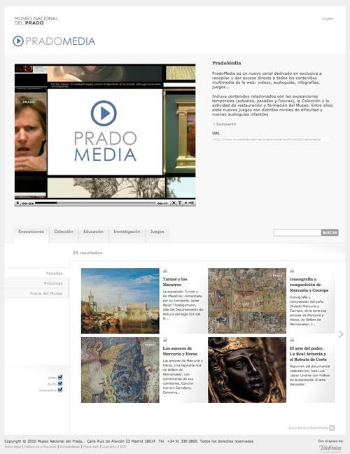 El Museo del Prado potencia su presencia en la Red con el lanzamiento del nuevo canal PradoMedia en su web y su canal de videos en YouTube