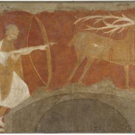 Deer Hunting. Hermitage of San Baudelio. Casillas de Berlanga (Soria)