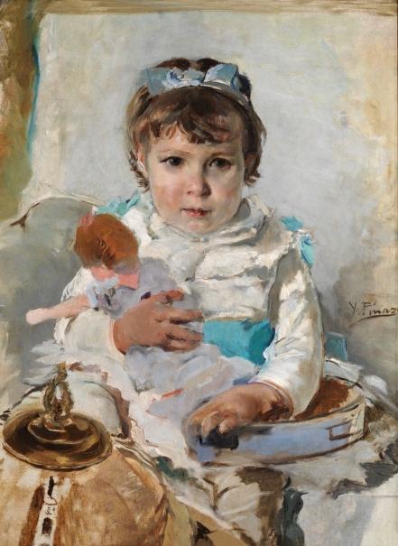 Niña con una muñeca