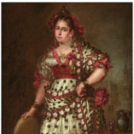 La duquesa de Frías, vestida de manola