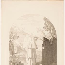 San Bruno se despide de San Hugo antes de su viaje a Roma