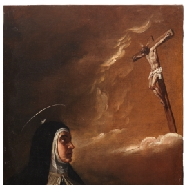 The crucified Christ appears to Saint Teresa of Avila