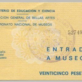 Billete de entrada al Museo del Prado [1973-1977]