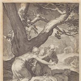 Adán y Eva lloran la muerte de Abel