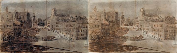<em>The Street</em> ca.1800-1808 / Sketch of the Royal Astronomical Observatory