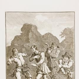 Encuentro de Don Quijote con el Roto de la mala Figura