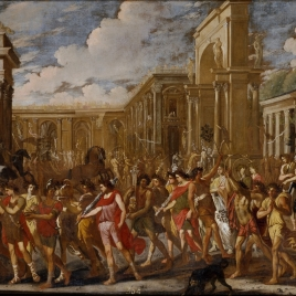 Entrada triunfal de Vespasiano en Roma