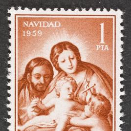 Serie de sellos La Sagrada Familia de Goya