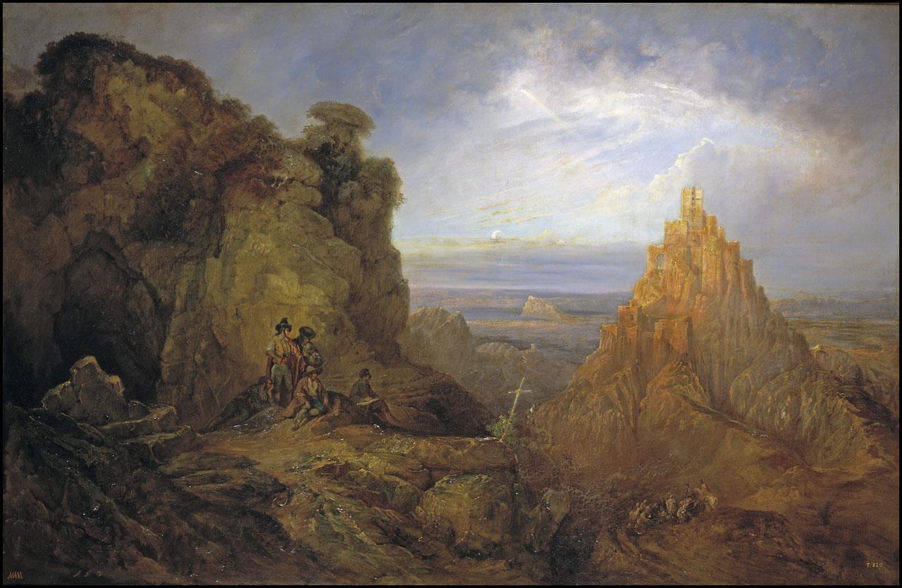 Vista del castillo de Gaucín [Pérez Villaamil]