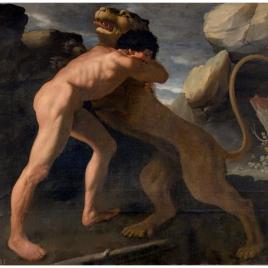 Hércules lucha con el león de Nemea