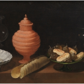 Still Life with Sweetmeats and glass Vessels