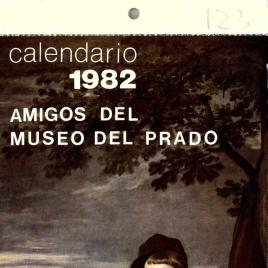 Calendario de 1982 editado por la Fundación Amigos del Museo del Prado